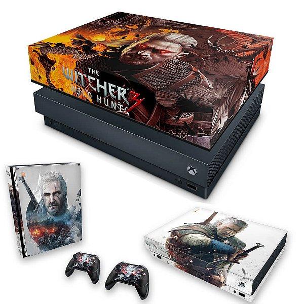 KIT Xbox One X Skin e Capa Anti Poeira - The Witcher 3 #B