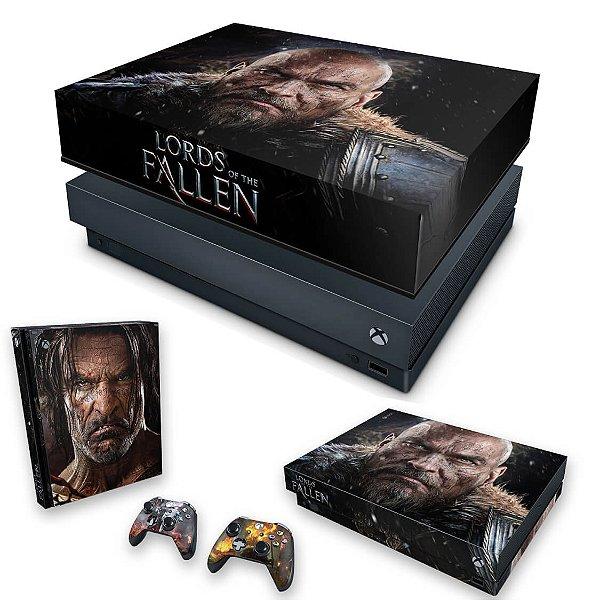 KIT Xbox One X Skin e Capa Anti Poeira - Lords of the Fallen