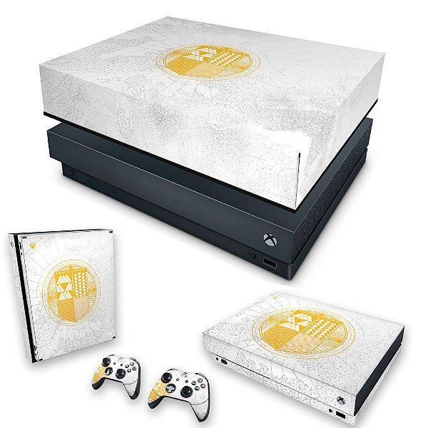 KIT Xbox One X Skin e Capa Anti Poeira - Destiny Limited Edition