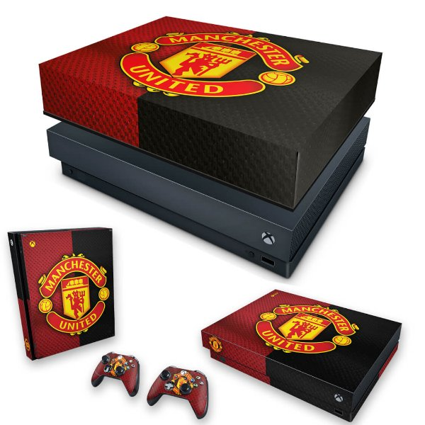 KIT Xbox One X Skin e Capa Anti Poeira - Manchester United
