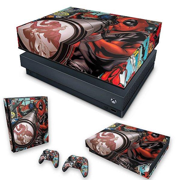 KIT Xbox One X Skin e Capa Anti Poeira - Deadpool