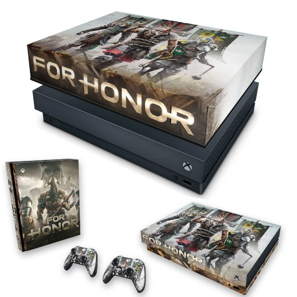 KIT Xbox One X Skin e Capa Anti Poeira - For Honor