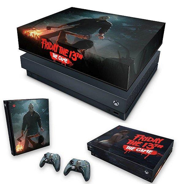 KIT Xbox One X Skin e Capa Anti Poeira - Friday the 13th The game - Sexta-Feira 13