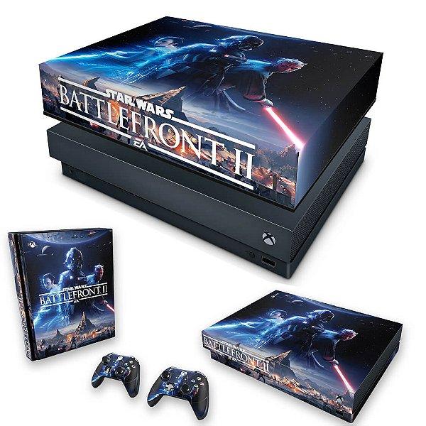 KIT Xbox One X Skin e Capa Anti Poeira - Star Wars - Battlefront 2