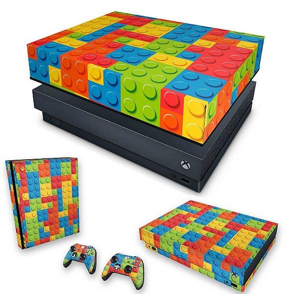 KIT Xbox One X Skin e Capa Anti Poeira - Lego