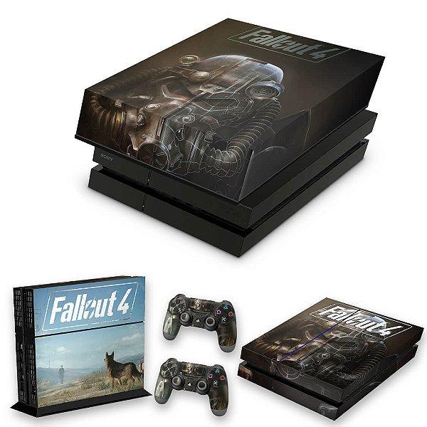 KIT PS4 Fat Skin e Capa Anti Poeira - Fallout 4
