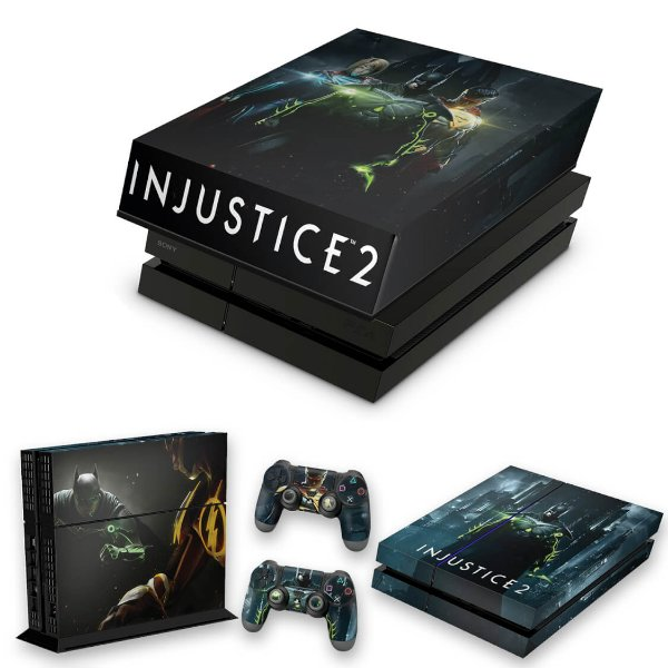 KIT PS4 Fat Skin e Capa Anti Poeira - Injustice 2