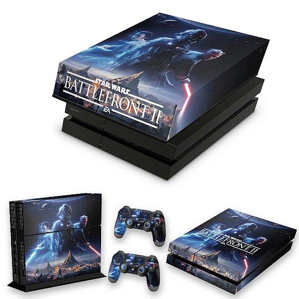 KIT PS4 Fat Skin e Capa Anti Poeira - Star Wars - Battlefront 2