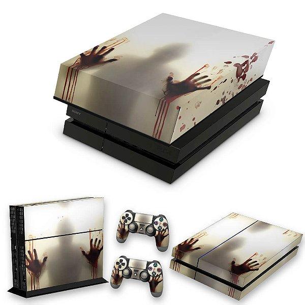 KIT PS4 Fat Skin e Capa Anti Poeira - Fear The Walking Dead