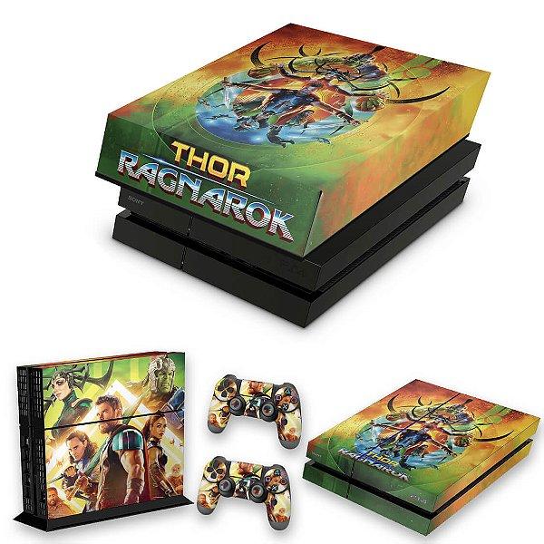 KIT PS4 Fat Skin e Capa Anti Poeira - Thor Ragnarok