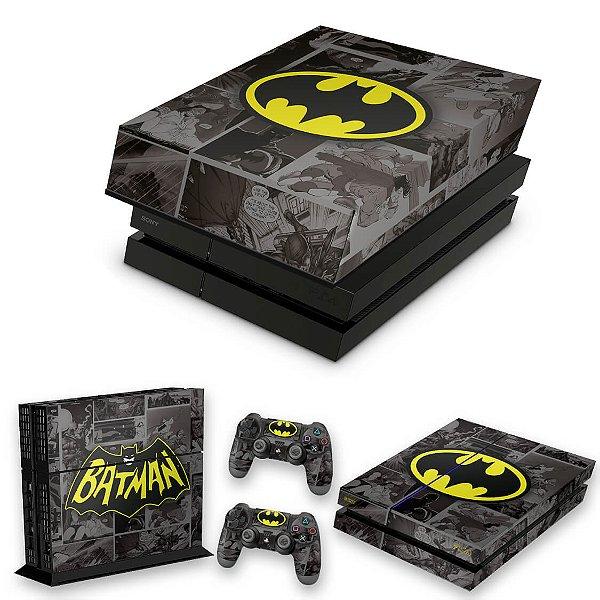 KIT PS4 Fat Skin e Capa Anti Poeira - Batman Comics