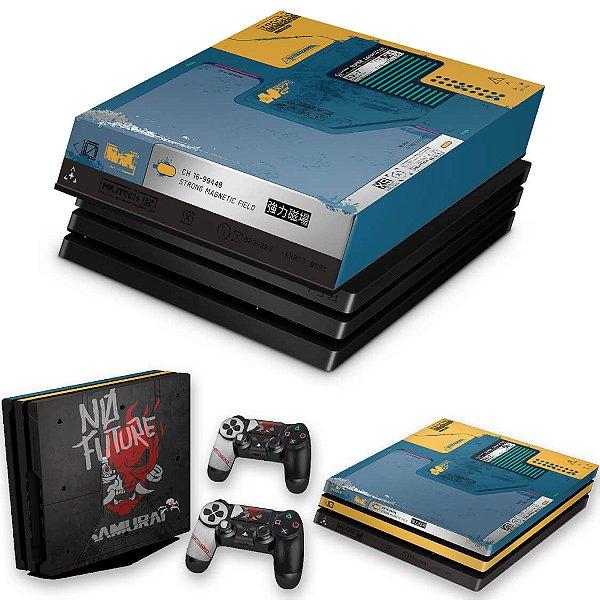 KIT PS4 Pro Skin e Capa Anti Poeira - Cyberpunk 2077 Bundle