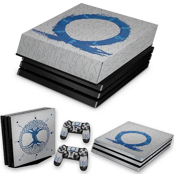 KIT PS4 Pro Skin e Capa Anti Poeira - God of War Ragnarok