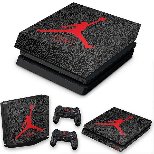 KIT PS4 Slim Skin e Capa Anti Poeira - Air Jordan Flight