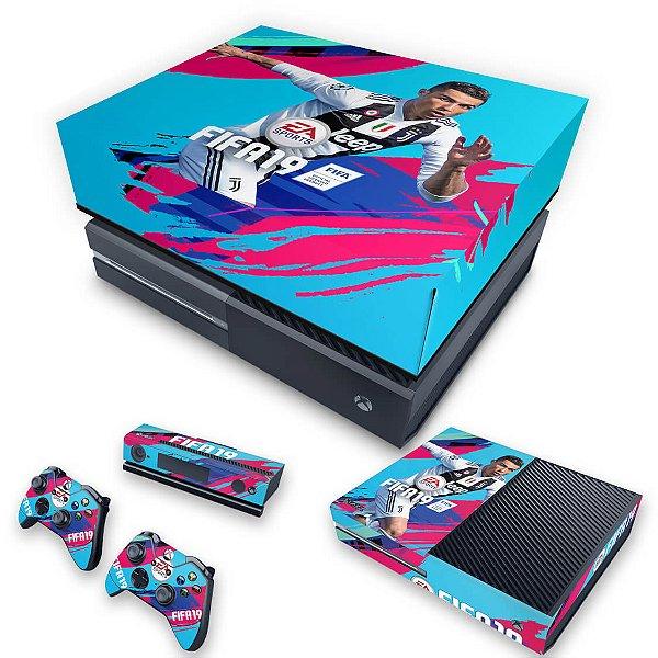 KIT Xbox One Fat Skin e Capa Anti Poeira - FIFA 19
