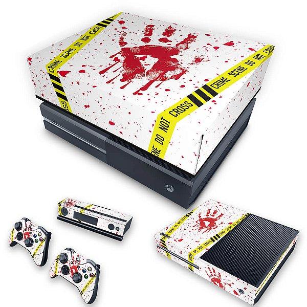 KIT Xbox One Fat Skin e Capa Anti Poeira - Cena de Crime Scene