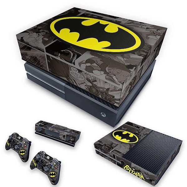 KIT Xbox One Fat Skin e Capa Anti Poeira - Batman Comics
