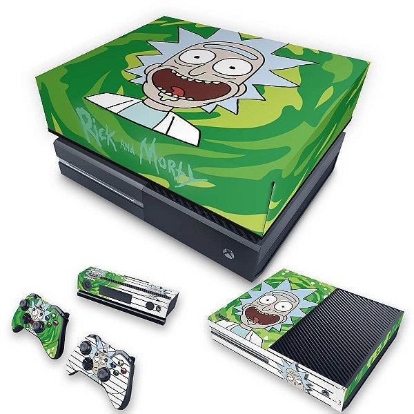 KIT Xbox One Fat Skin e Capa Anti Poeira - Rick Rick and Morty