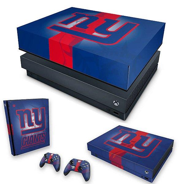KIT Xbox One X Skin e Capa Anti Poeira - New York Giants - NFL
