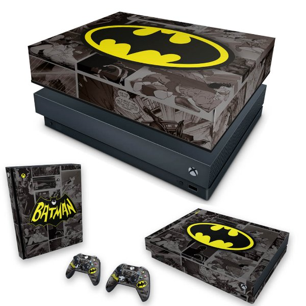 KIT Xbox One X Skin e Capa Anti Poeira - Batman Comics