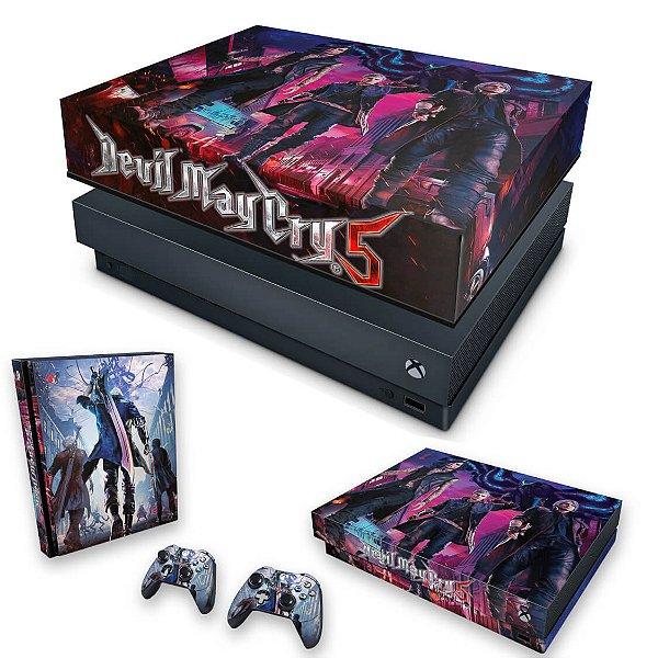 KIT Xbox One X Skin e Capa Anti Poeira - Devil May Cry 5