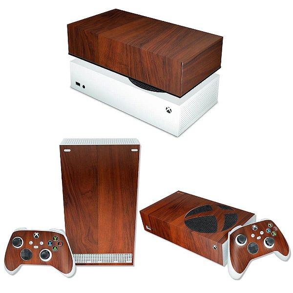 KIT Xbox Series S Skin e Capa Anti Poeira - Madeira