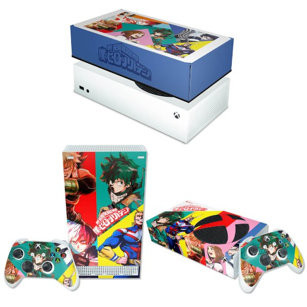 KIT Xbox Series S Skin e Capa Anti Poeira - Boku No Hero Academia