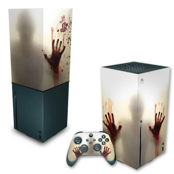 KIT Xbox Series X Skin e Capa Anti Poeira - Fear The Walking Dead