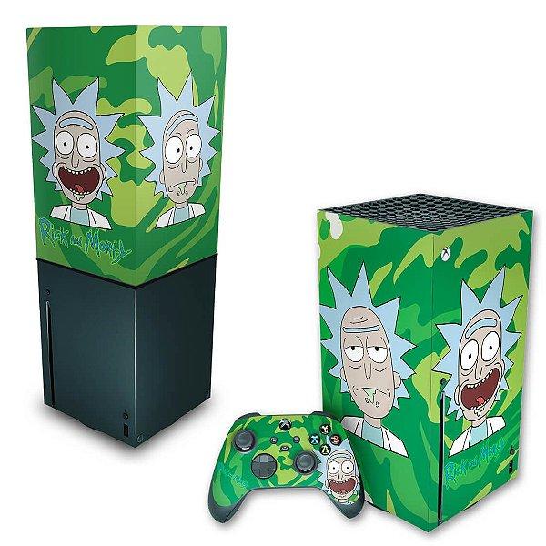 KIT Xbox Series X Skin e Capa Anti Poeira - Rick And Morty