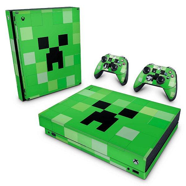 Xbox One X Skin - Creeper Minecraft
