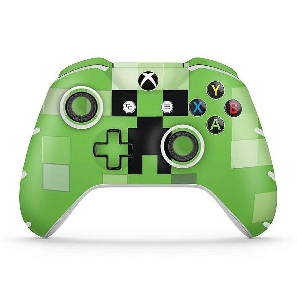 Skin Xbox One Slim X Controle - Creeper Minecraft