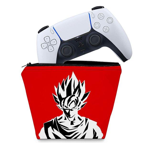 Capa PS5 Controle Case - Dragon Ball Goku Kaiô