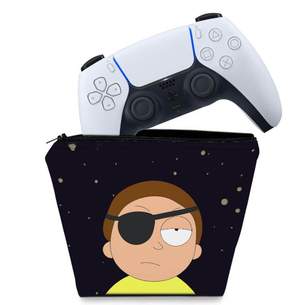 Capa PS5 Controle Case - Morty Rick And Morty
