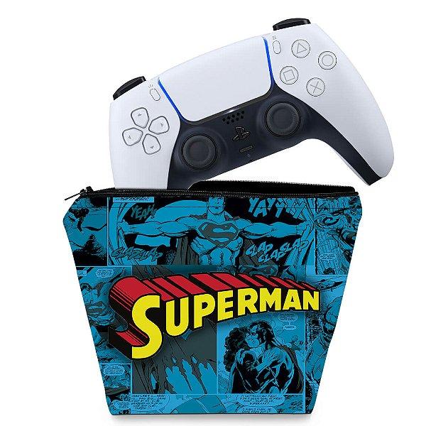 Capa PS5 Controle Case - Superman Comics