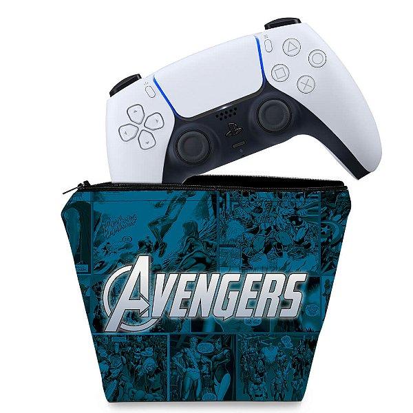 Capa PS5 Controle Case - Avengers Vingadores Comics
