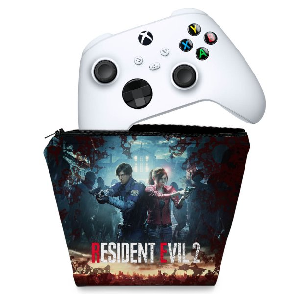 Capa Xbox Series S X Controle Case - Resident Evil 2 Remake