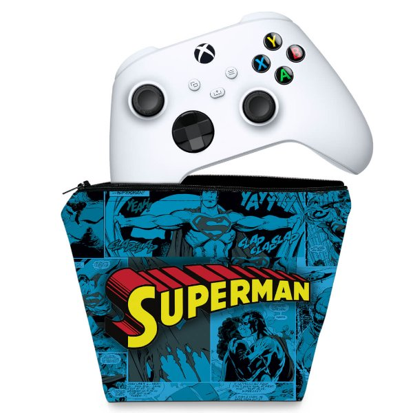 Capa Xbox Series S X Controle Case - Superman Comics