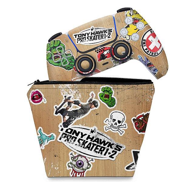 KIT Capa Case e Skin PS5 Controle - Tony Hawk's Pro Skater