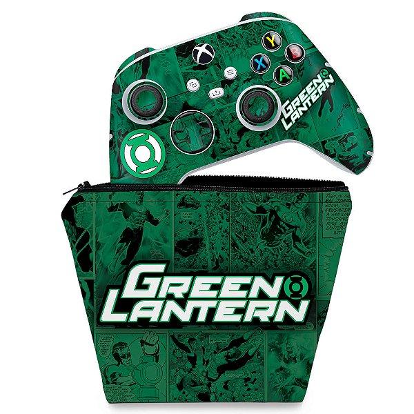 KIT Capa Case e Skin Xbox Series S X Controle - Lanterna Verde Comics