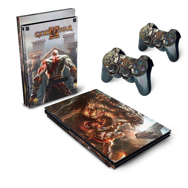 PS2 Slim Skin - God Of War 2 II
