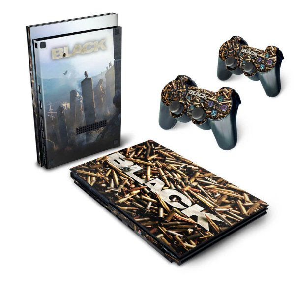 PS2 Slim Skin - Black