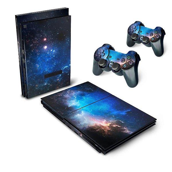 PS2 Slim Skin - Universo Cosmos