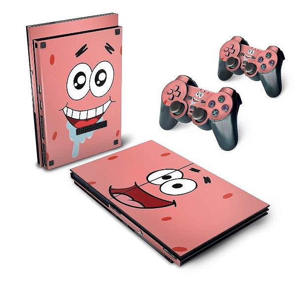 PS2 Slim Skin - Patrick Bob Esponja