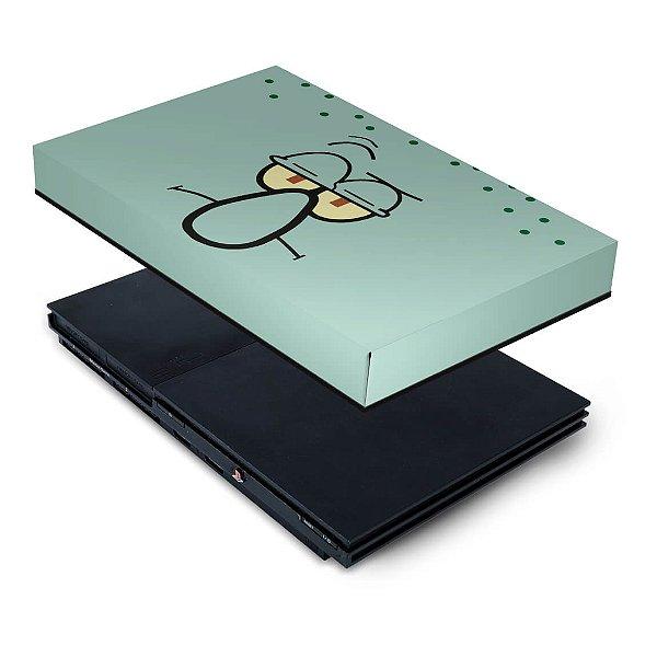 PS2 Slim Capa Anti Poeira - Lula Molusco Bob Esponja
