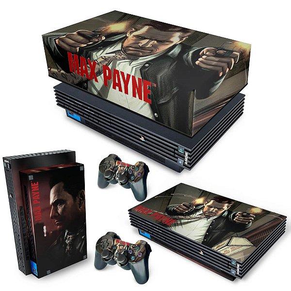 KIT PS2 Fat Skin e Capa Anti Poeira - Max Payne