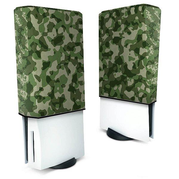 Capa PS5 Anti Poeira - Camuflado Verde