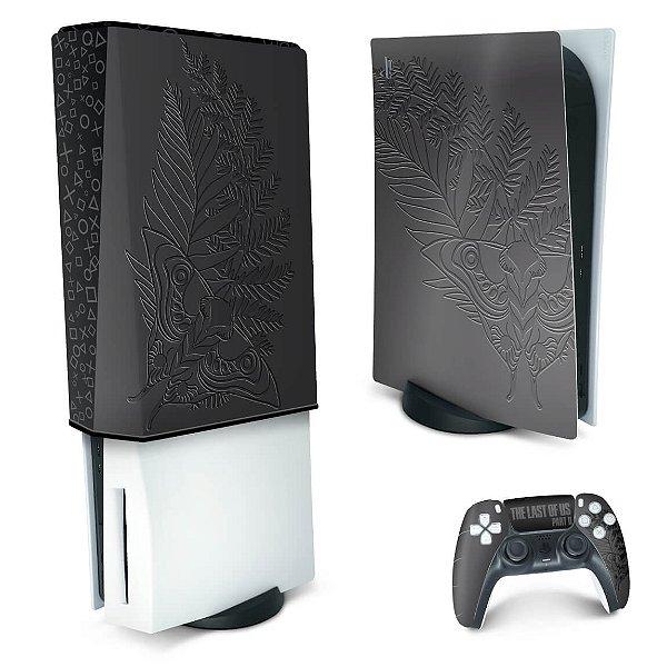 KIT PS5 Skin e Capa Anti Poeira - The Last Of Us Part II Bundle