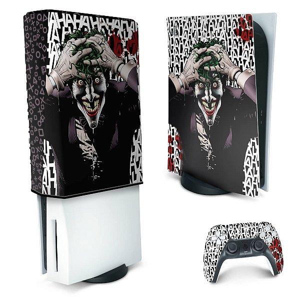 KIT PS5 Skin e Capa Anti Poeira - Joker Coringa