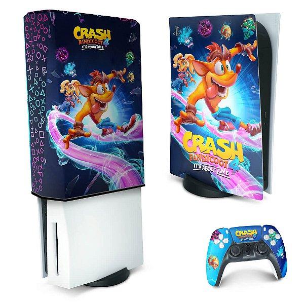 KIT PS5 Skin e Capa Anti Poeira - Crash Bandicoot 4
