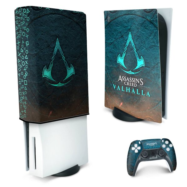 KIT PS5 Skin e Capa Anti Poeira - Assassin's Creed Valhalla